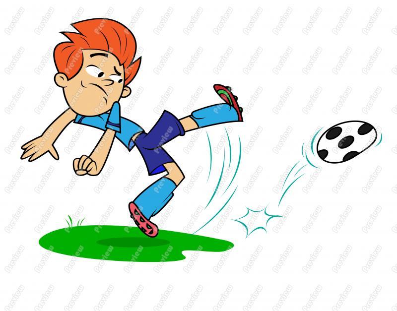 800x627 Boy Child Playing Soccer Clip Art