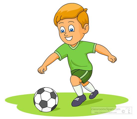 550x478 Boy Clipart Soccer Player