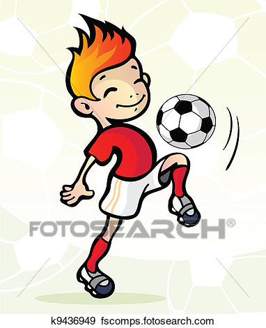 382x470 Clip Art Of Soccer Player With Ball K9436949