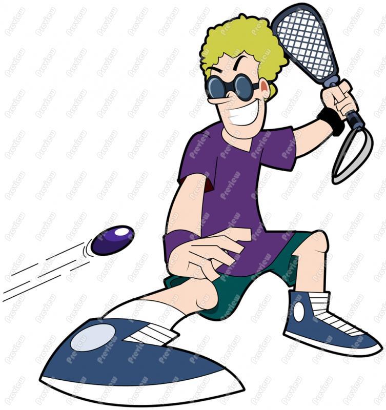 753x800 Squash Player Clip Art