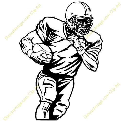 500x500 Football Player Clipart 101 Clip Art On Football Player Clip Art