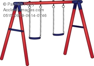 300x211 Art Illustration Of A Playground Swing Set