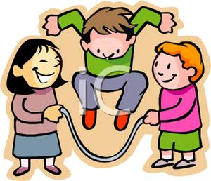 300x258 Kids Playing With A Jump Rope On Playground Clip Art