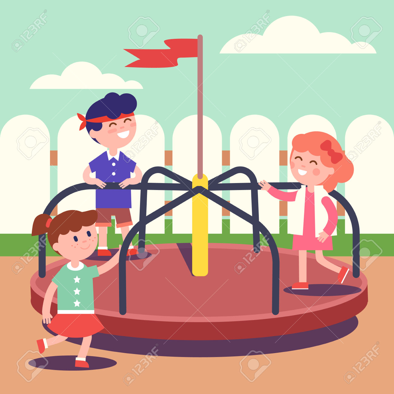 1300x1300 Playground Clipart Carousel