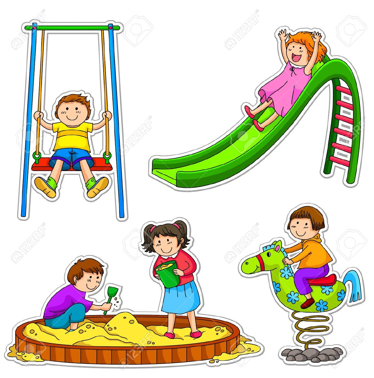 1286x1300 Playground Clipart School Fun