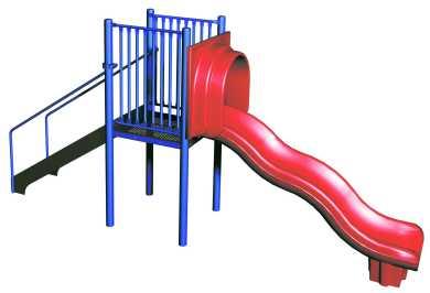 390x266 Freestanding Wave Slide