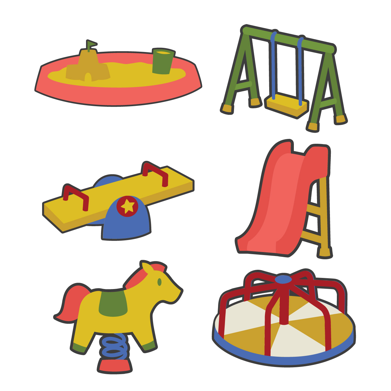 1300x1300 Playground Equipment Digital Set