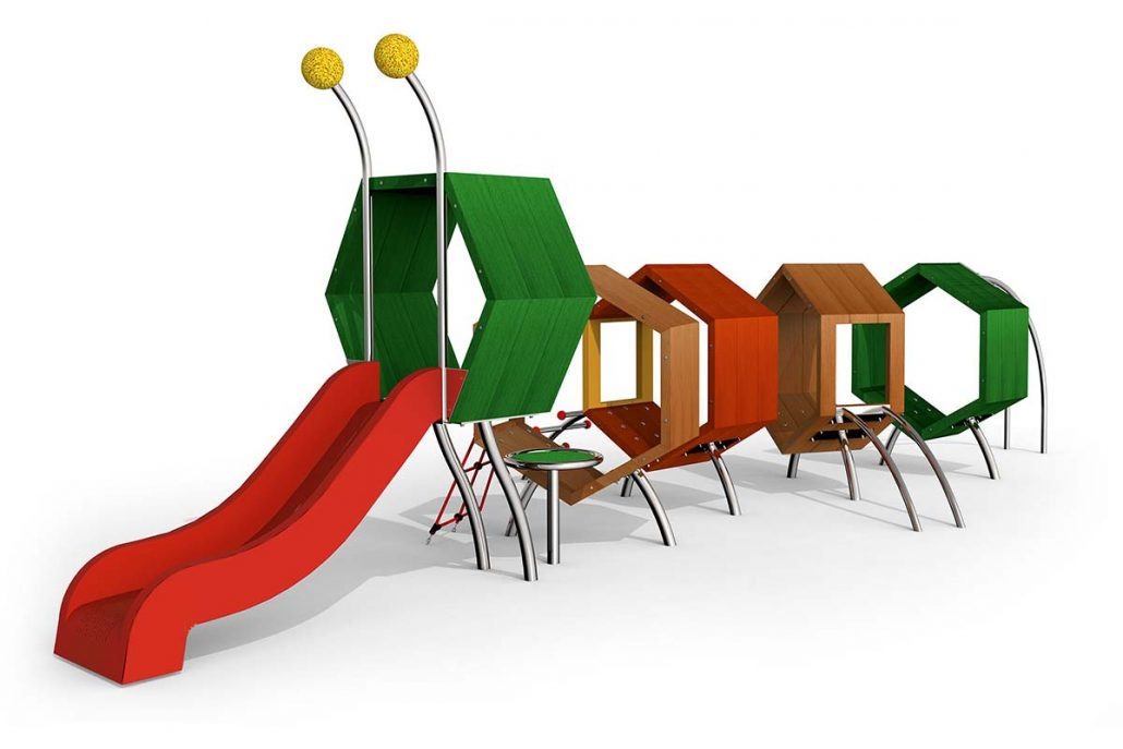 1030x687 Climbing Caterpillar Tamino2 Stilum Playground Equipment