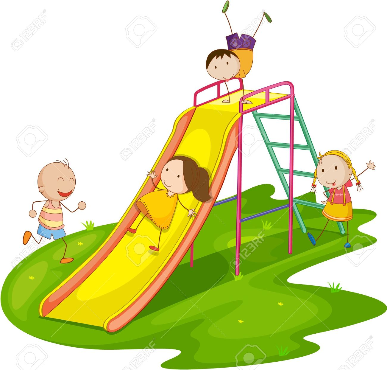 1300x1242 3,718 School Playground Stock Illustrations, Cliparts And Royalty