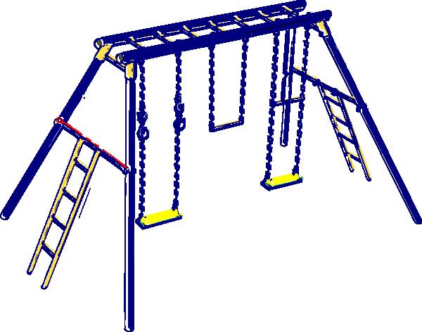 600x472 Blue Playground Clip Art