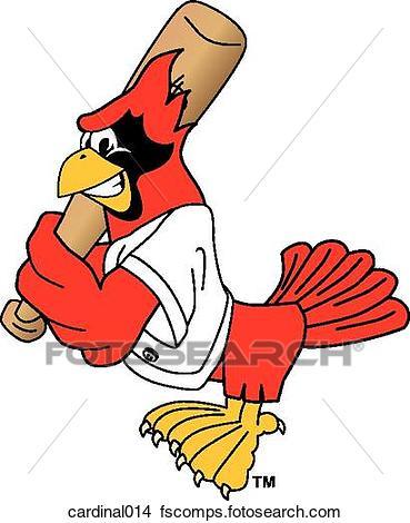 369x470 Drawings Of Cardinal Playing Baseball Cardinal014