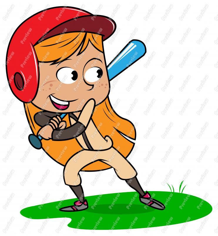 742x800 Girl Child Playing Baseball Clip Art