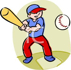300x293 Kid Playing Baseball Clipart Picture