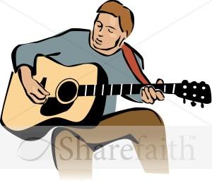 300x259 Guitar Clipart Guitar Playing