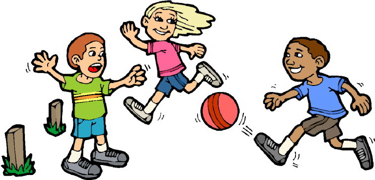 755x362 Children playing clipart