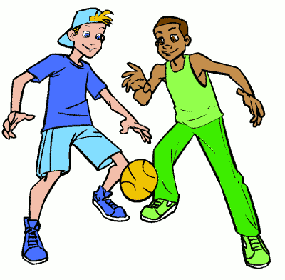 400x392 Children playing football clipart clip art library –