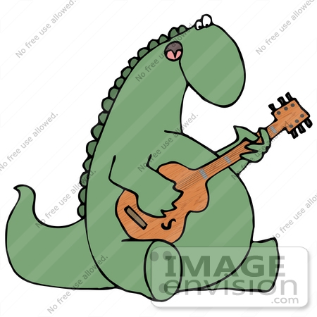 450x450 Cliprt Graphic Of Musical Green Dinosaur Singingnd Playing