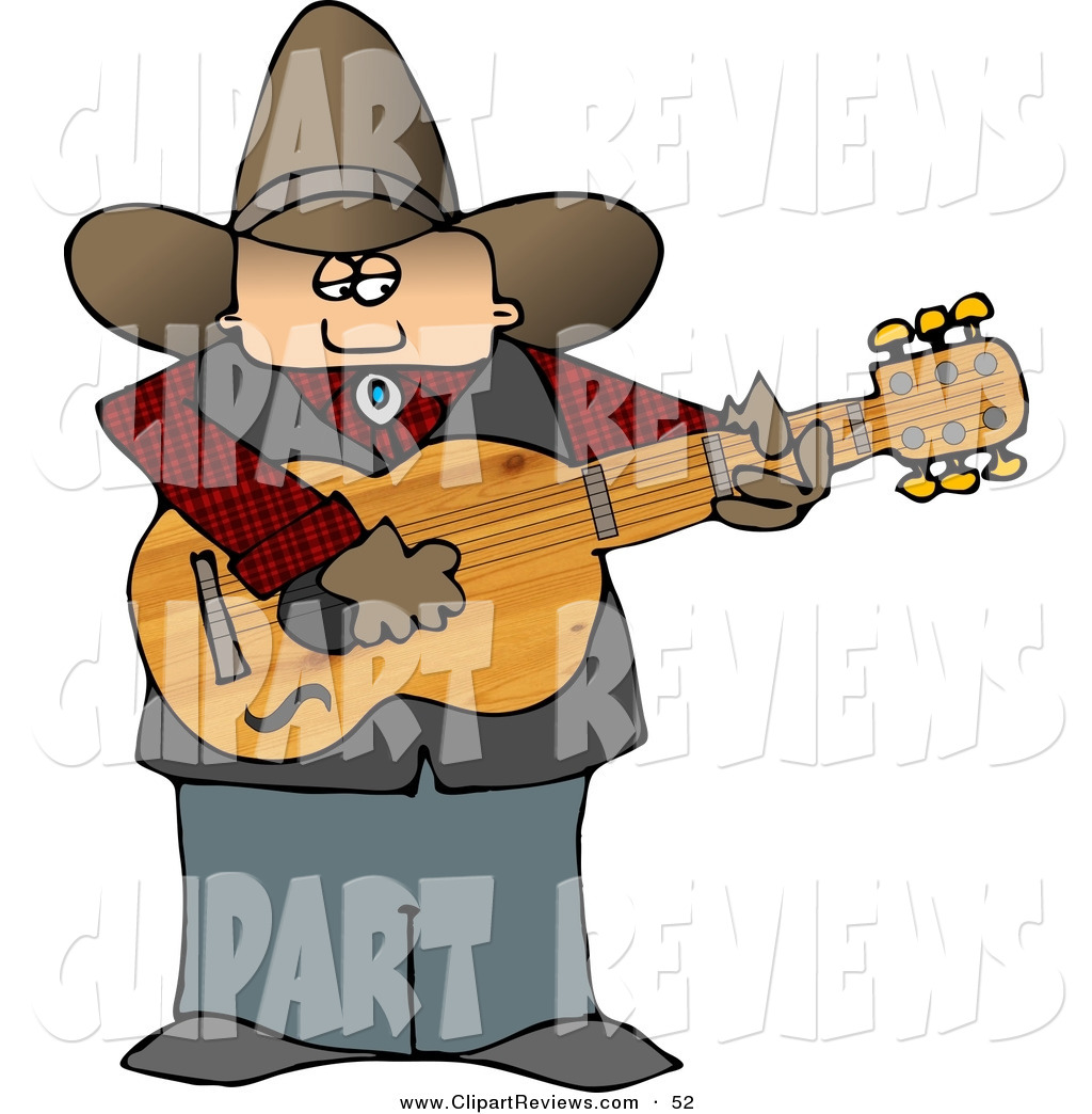 1024x1044 Clip Art Of A Country Cowboy Playing An Acoustic Guitar On Stage