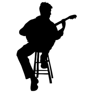 300x300 Free Guitar Player Clipart Image 0515 0912 1801 4943 Business