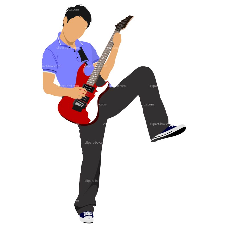 800x800 Free Playing Guitar Clipart Image