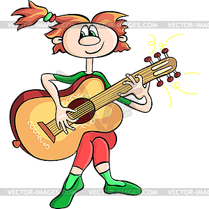 300x300 Girl Playing Guitar Clip Art Cliparts