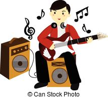 214x194 Guitar Clipart Guitar Playing