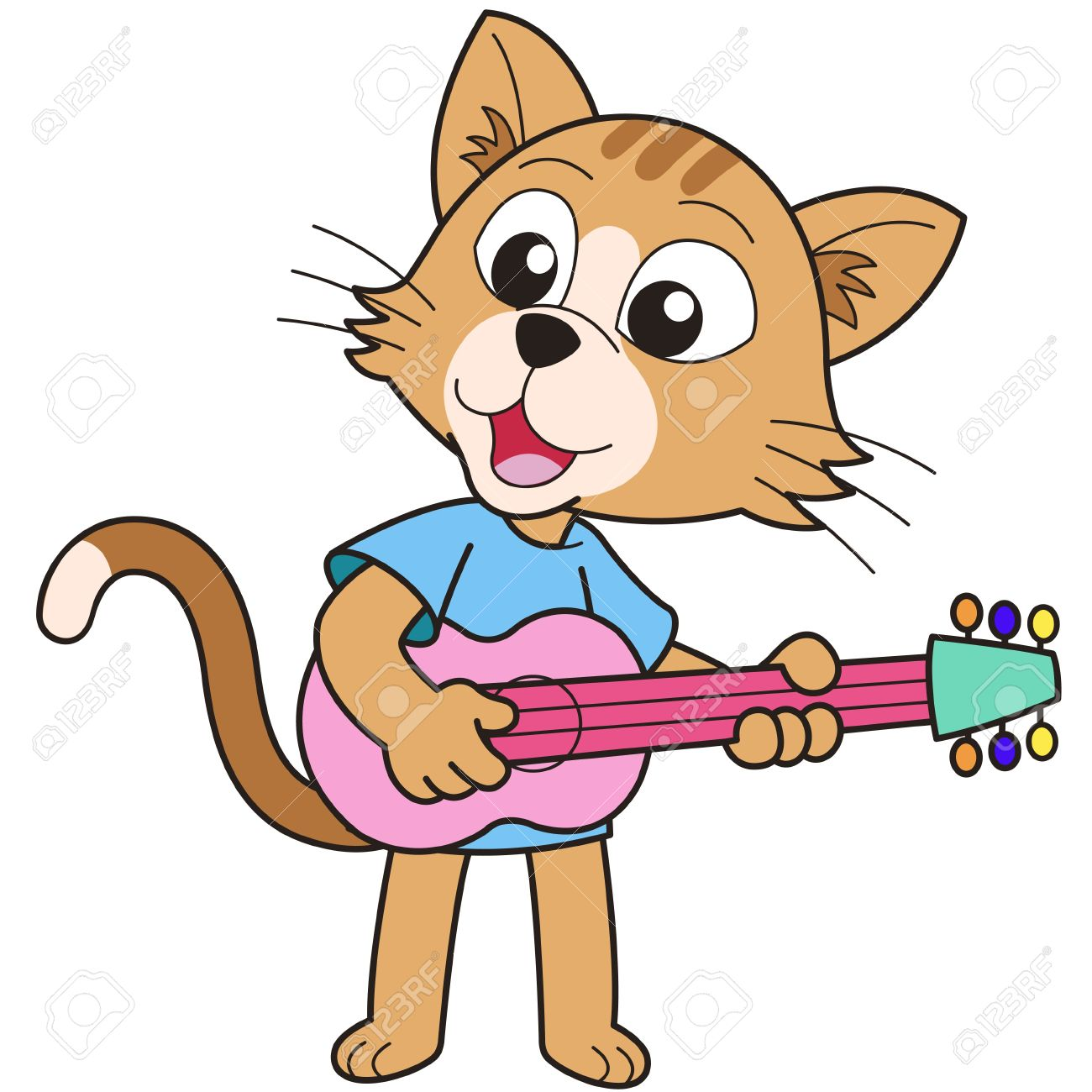1300x1300 Animal Playing Guitar Clipart