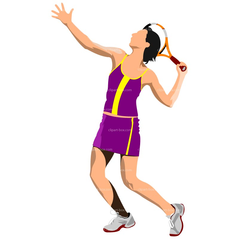 800x800 Free Girl Tennis Clipart Image