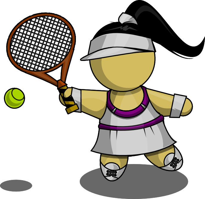 686x666 Free Girl Tennis Clipart Image