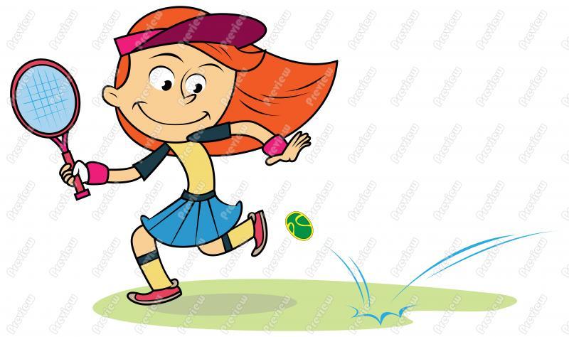 800x474 Girl Child Playing Tennis Clip Art
