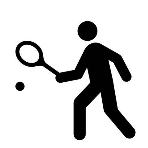 480x480 Image For Playing Tennis Silhoutte Sport Clip Art Sport Clip Art