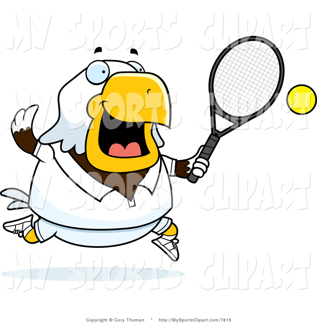1024x1044 Sports Clip Art Of A Bald Eagle Playing Tennis In White By Cory