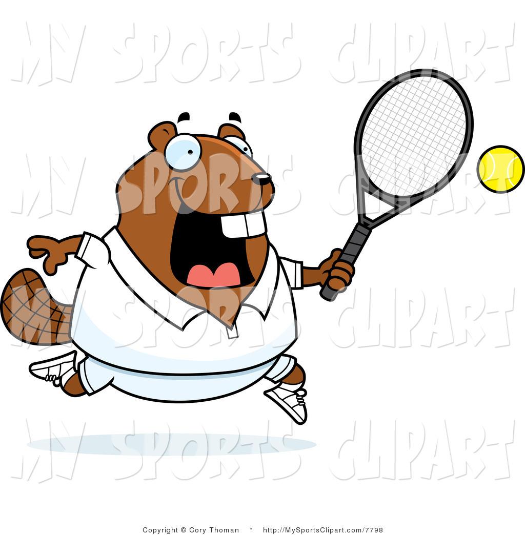 1024x1044 Sports Clip Art Of A Beaver Playing Tennis By Cory Thoman