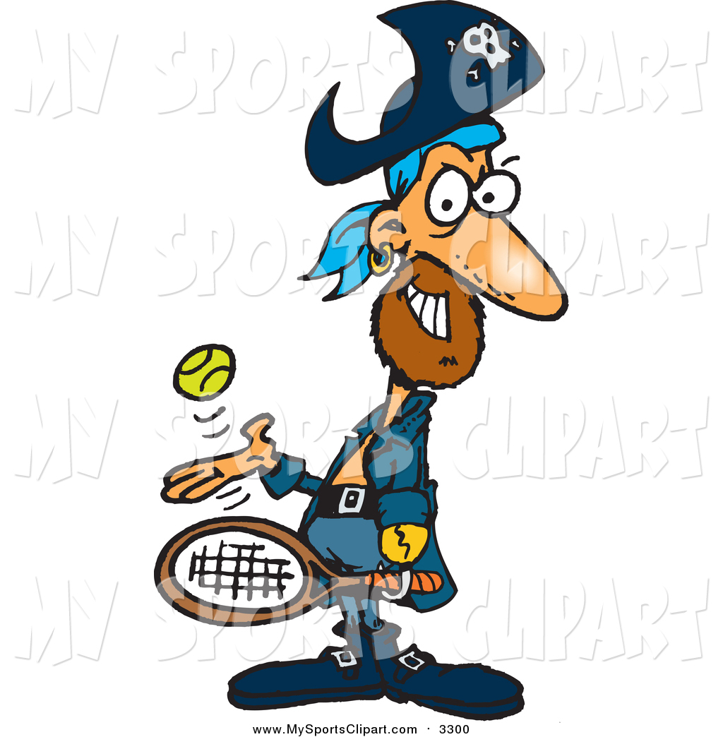 1024x1044 Sports Clip Art Of A Pirate Guy Playing Tennis By Dennis Holmes