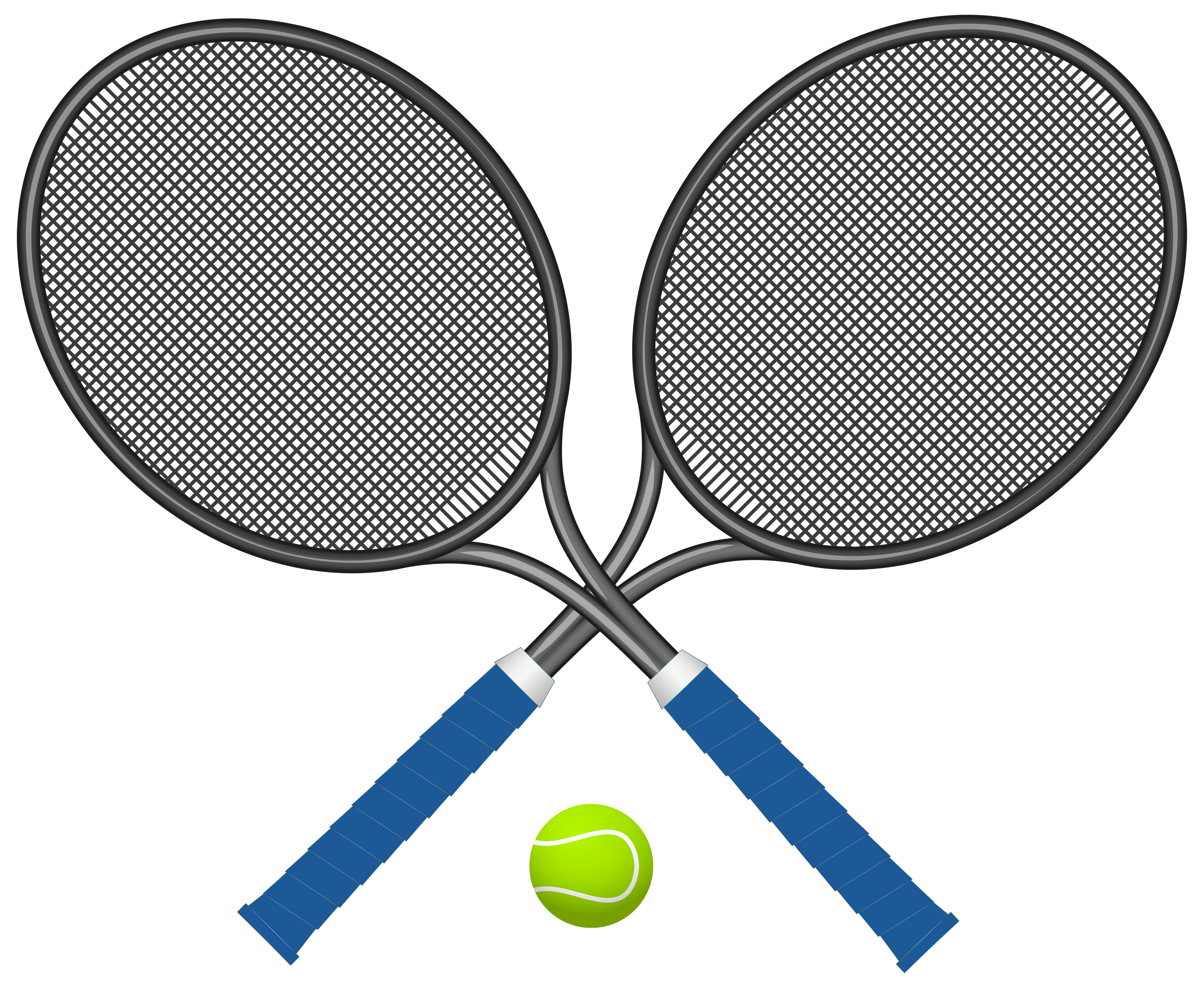4000x3288 Tennis Rackets With Ball Png Clipart