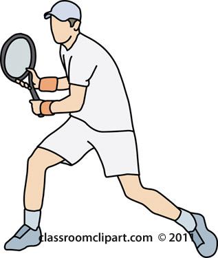 317x375 Tennis Clipart Tennis Player Backhand Stroke Classroom Clipart