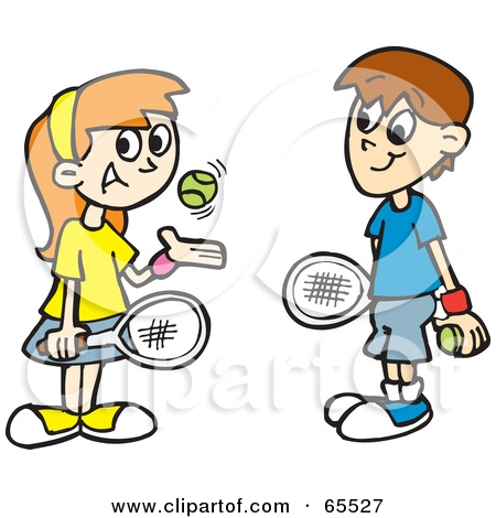 450x470 Two People Playing Tennis Clipart