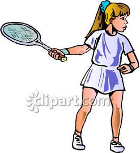 275x300 Young Girl Playing Tennis