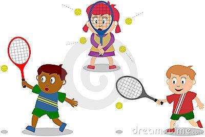 400x267 Kids Playing Tennis Clipart