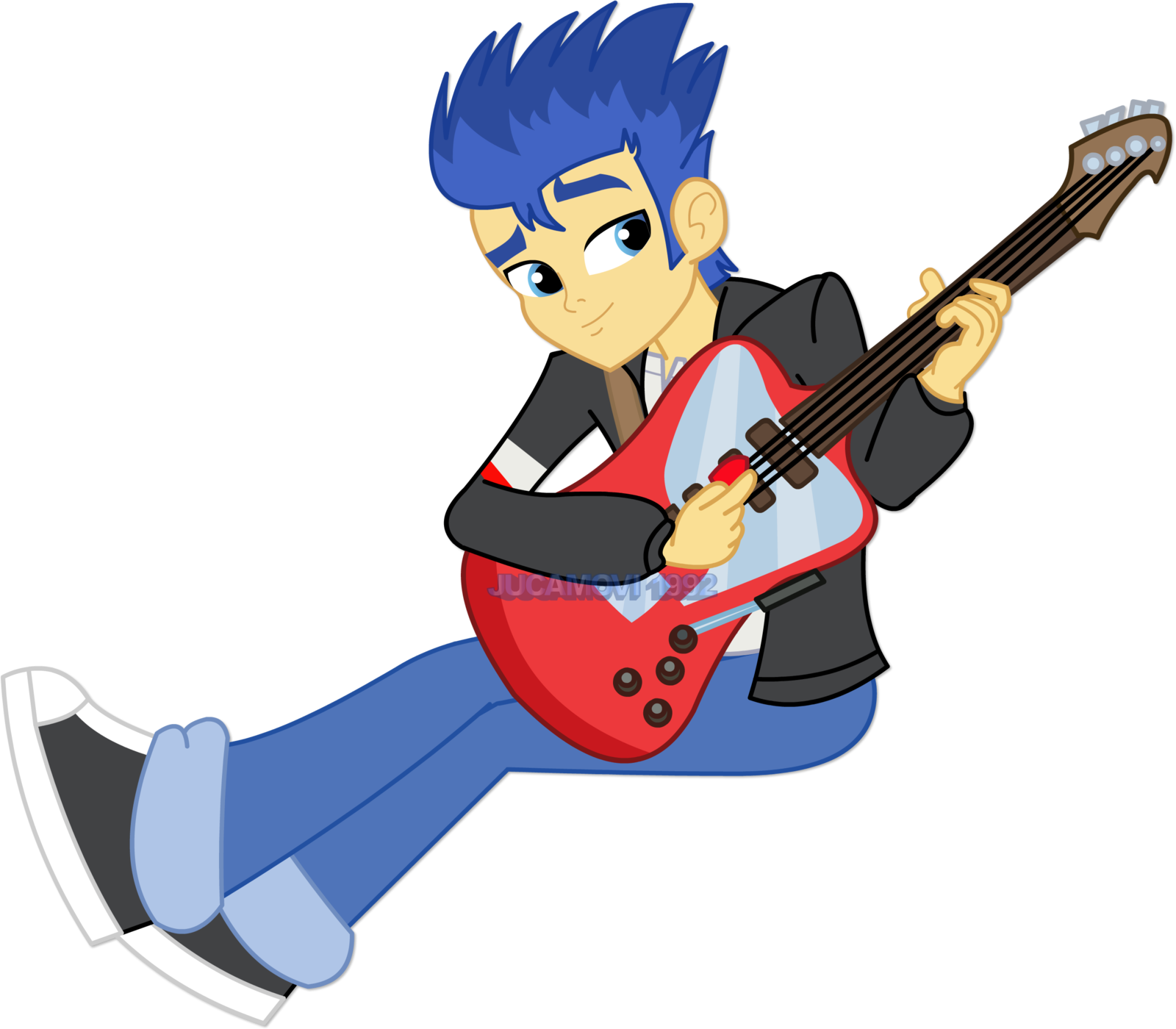 1600x1400 Flash Sentry Playing The Guitar By Jucamovi1992