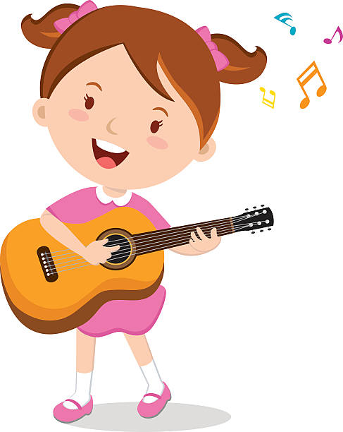 487x612 Girl Playing Guitar Clipart