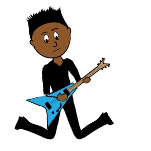 300x300 Guitar Clipart Rock Guitarist