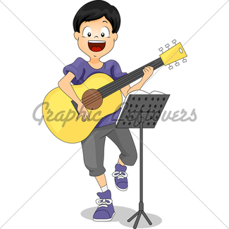 325x325 Kid With Electric Guitar Gl Stock Images