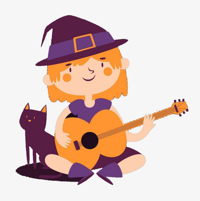 650x651 The Witch Who Plays The Guitar, Play The Guitar, Little Witches