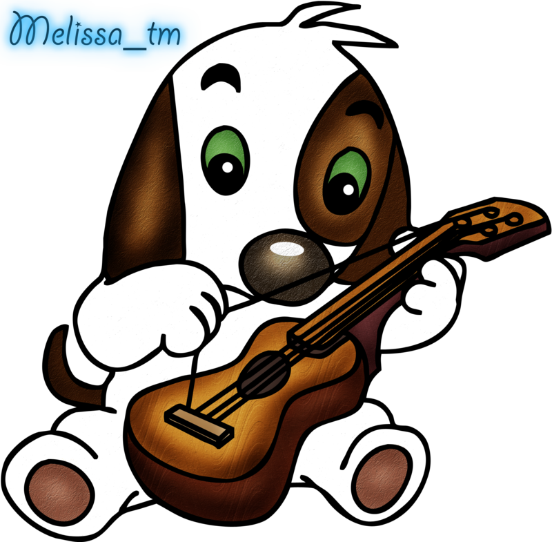 800x785 Cute Dog Playing The Guitar Png By Melissa Tm