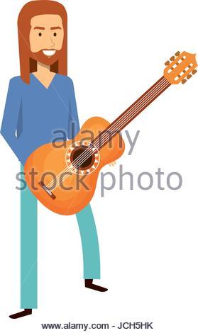 279x470 Musician Playing Guitar Avatar Stock Vector Art Amp Illustration