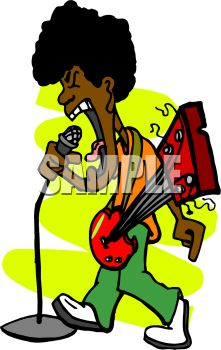 221x350 Black Guy With An Afro Singing And Playing The Guitar