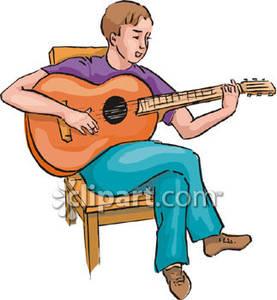 277x300 Boy Playing A Guitar