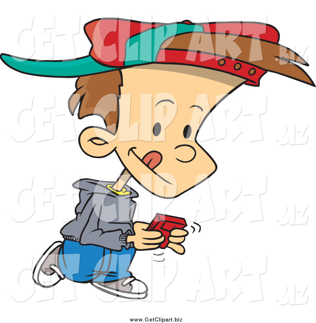 1024x1044 Clip Art Of A Cartoon Brunette White Boy Walking And Playing