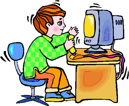 432x355 Computer Gaming Clipart